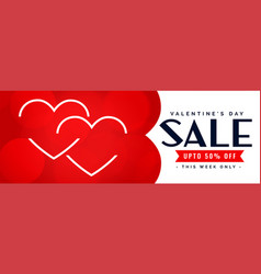 happy valentines day sale and offer banner vector image