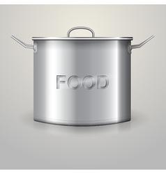 high aluminum saucepan vector image