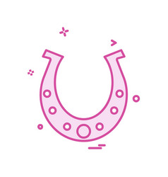 horse shoe icon design vector image