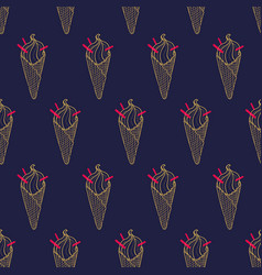 Ice cream easy pattern linear-29 vector
