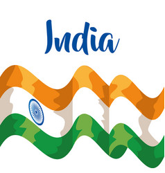 India flag and tradional and national patriotism vector