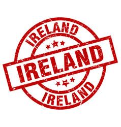 Ireland red round grunge stamp vector