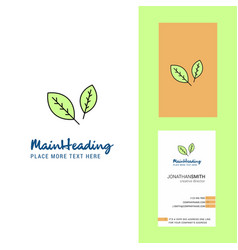 leafs creative logo and business card vertical vector image