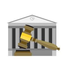 Legitimate decision court vector