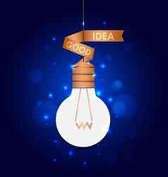 Light bulb idea background vector image