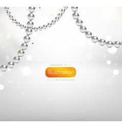 Luxurious Silver Christmas Background vector