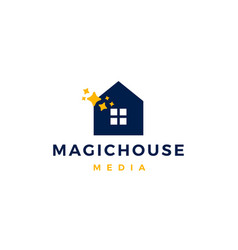 Magic house logo icon vector