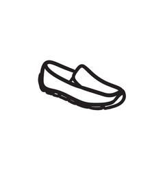 Male shoe sketch icon vector