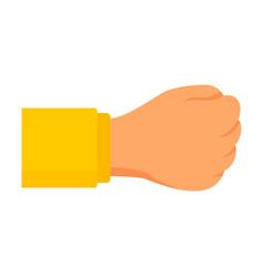 man fist icon flat style vector image