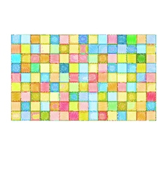 Mixed tile wall drawn with color pencil vector