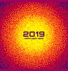new year 2019 card background christmas circle vector image