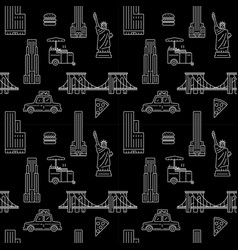 New york city seamless pattern vector