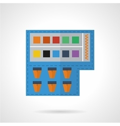 Paints colored icon vector