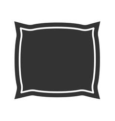 Pillow glyph icon vector