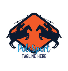 polo sport logo with text space for your slogan vector image