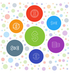 Pound icons vector