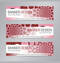 red pink banner design web header template vector image