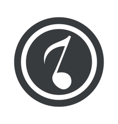 Round black 8th note sign vector
