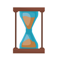 Sand clock time supply school icon vector