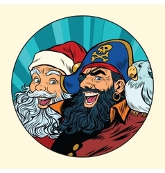 santa and pirate vector image