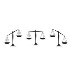 Scales icon set law scales vector