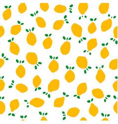 seamless pattern with lemons flat minimalist cut vector image