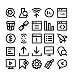 SEO and Marketing icons 5 vector image