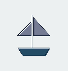 ship line flat icongraphic design vector image