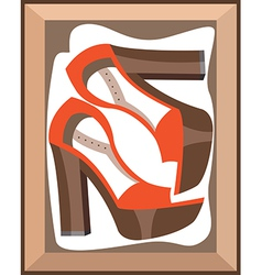Shoes in a box vector