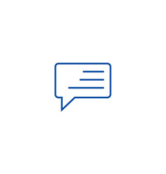 simple line chat line icon concept simple line vector image