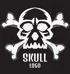 Skull logo Human skull vector image
