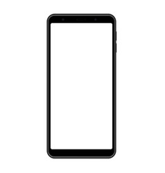 Smartphone frame black mockup with blank screen vector