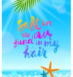 Summer holidays and vacation vector