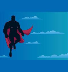 superhero flying in sky vector image