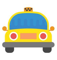 Taxi flat icon vector
