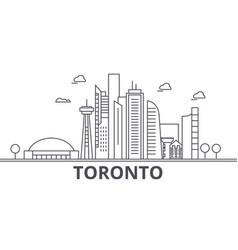 Toronto architecture line skyline vector