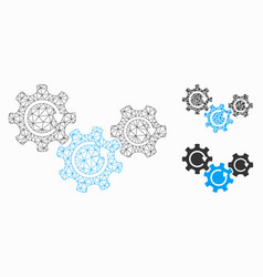 Transmission gears rotation mesh network vector
