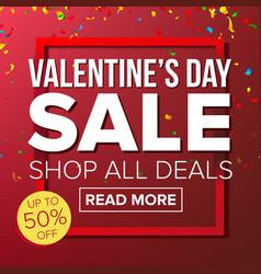 Valentine s day sale banner love vector