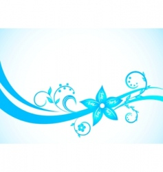 vector blue floral background vector image vector image