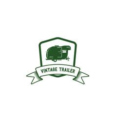 vintage trailer emblem vector image