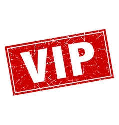 Vip red square grunge stamp on white vector