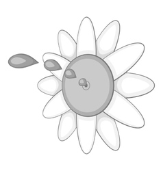 Watering flower icon gray monochrome style vector