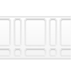 white wall with moulding frames classic interior vector image