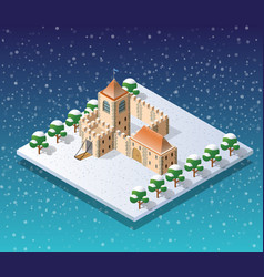 winter christmas city vector image
