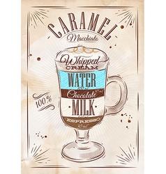 Poster caramel macchiato kraft vector image vector image