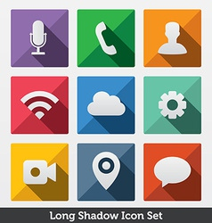 Long Shadow Icons vector image vector image