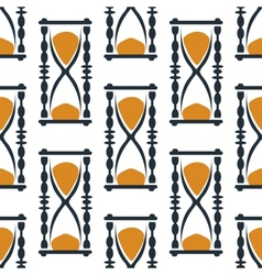 Vintage hourglasses or sandglasses seamless vector image vector image