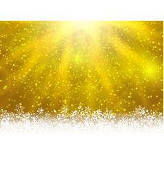 yellow winter backround vector image vector image