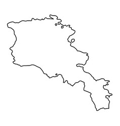 armenia map of black contour curves on white vector image vector image