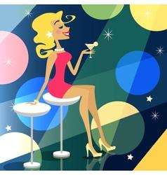 girl in bar vector image